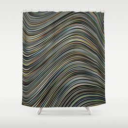 MAGS multi-colour layers create a giant wave Shower Curtain