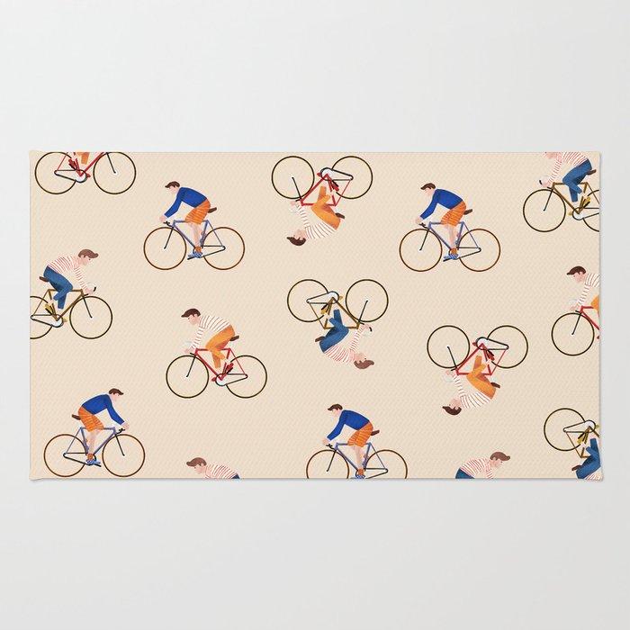Bike Pattern Rug