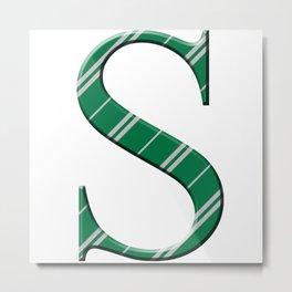 S for Slytherin Metal Print