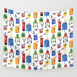 Mailboxes Around the World Wall Tapestry