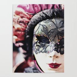 Carnival of Venice - Girl in Mask Poster
