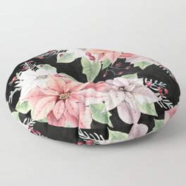 Poinsettia Floor Pillow