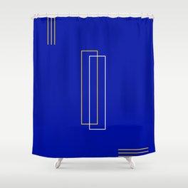 Blue Door Abstract Shower Curtain