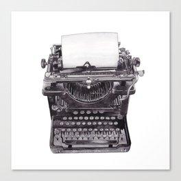 Vintage Remington Standard Typewriter Canvas Print