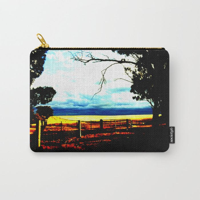 Storm clouds over wheat Fields Carry-All Pouch