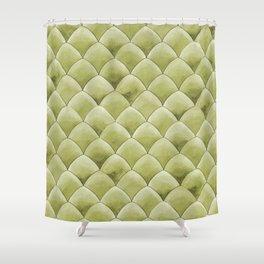 Green Snakeskin-ish Tessallation Shower Curtain