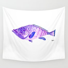 Grouper - violet big fish - mérou - gros poisson Wall Tapestry