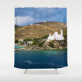Ios,Kyklades,Greece. Shower Curtain
