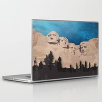 rushmore Laptop & iPad Skins featuring Night Mountains No. 15 by Bakmann Art