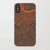philadelphia iPhone & iPod Cases featuring Philadelphia 2 by Map Map Maps