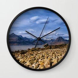 The Cuillin from Elgol, Isle of Skye Wall Clock