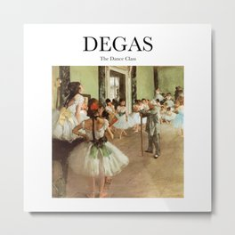 Degas - The Dance Class Metal Print