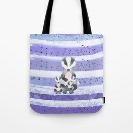 Tones Of Purple Bea Badger - Bagaceous Tote Bag