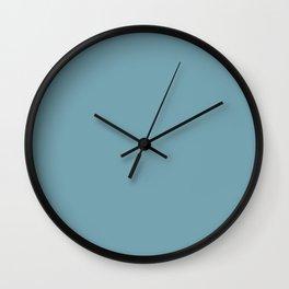 Christmas Icy Blue Velvet Wall Clock