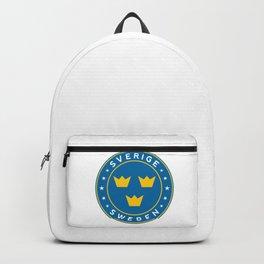 Sweden, Sverige, 3 crowns, circle Backpack