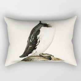 Little auk (Alle alle) illustrated by the von Wright brothers Rectangular Pillow