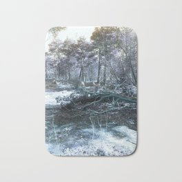Icy Forest Bath Mat