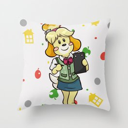 Isabelle at Work! Throw Pillow