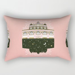 Budapest Bath House – Peach & Gold Palette Rectangular Pillow