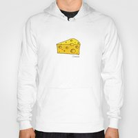 cheese Hoodies featuring Cheese by Studio14