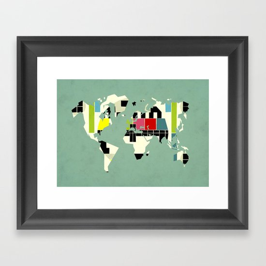 This is not a test Framed Art Print
