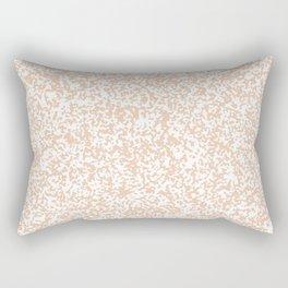 Tiny Spots - White and Desert Sand Orange Rectangular Pillow