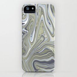 Green abstract marble iPhone Case