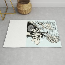 TOILET CLEANING Rug