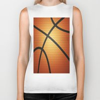 basketball Biker Tanks featuring Basketball by Debra Ulrich