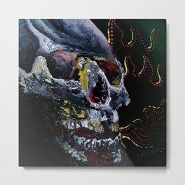 Society Skull Metal Print