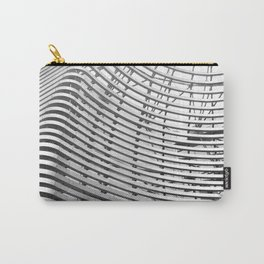 Abstract Architecture BW Carry-All Pouch