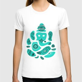 Ganesha Drawing with Mandala Elements T-shirt