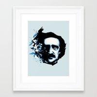 edgar allan poe Framed Art Prints featuring Edgar Allan Poe Crows by Ludwig Van Bacon