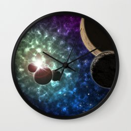 Space Scene One Wall Clock