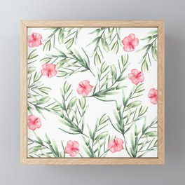 Delicate Hibiscus Framed Mini Art Print