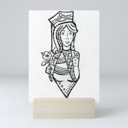 Riendo's Millennial's Queen of Diamonds Mini Art Print