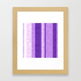 Retro Vintage Lilac Grunge Stripes Framed Art Print