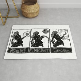Maid, Mother, Crone - Lino Print Rug