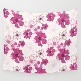 Pink Poppy Bash Wall Tapestry