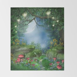 Enchanted Summer Night Throw Blanket