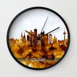 Cologne Germany Skyline Wall Clock