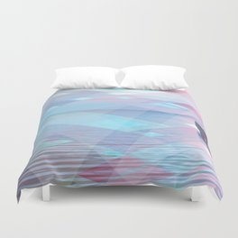 down at the pier Duvet Cover