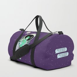 I miss you from here to the earth Duffle Bag