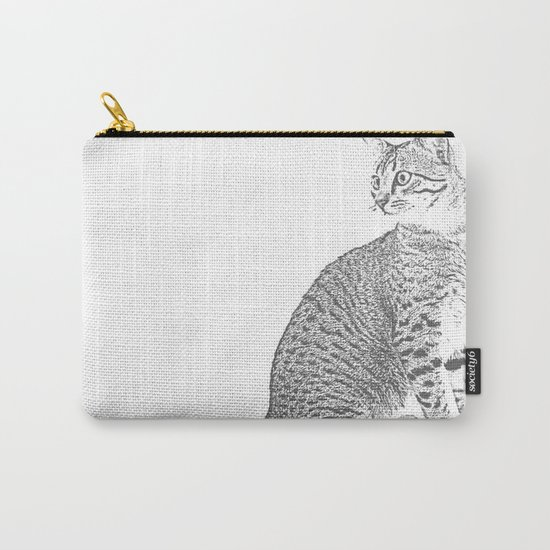 Cat Sketch Carry-All Pouch