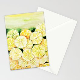 Limes and lemons Stationery Cards