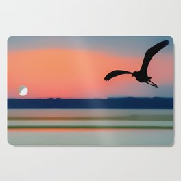 Seagull Sunset Abstract Cutting Board