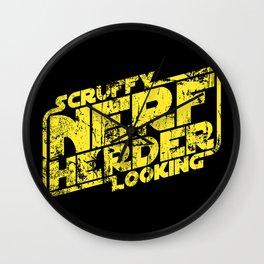 Scruffy Looking Nerf Herder Wall Clock
