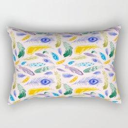 Jewel Tone Feathers Rectangular Pillow