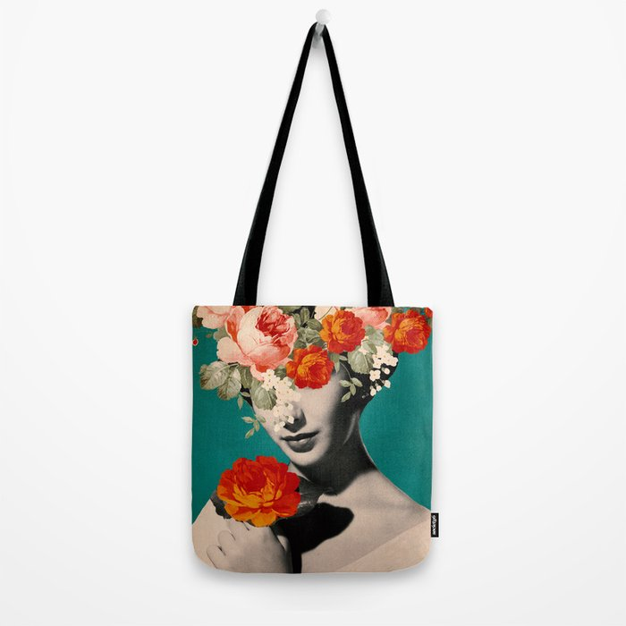 WOMAN WITH FLOWERS Tote Bag
