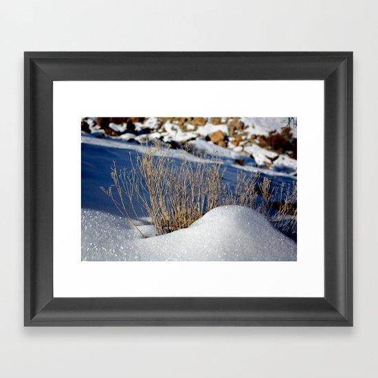 January Chill Framed Art Print